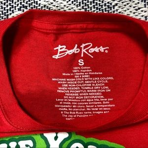 """Bob Ross Shirts - Official Bob Ross """"Happy Little Christmas"""" Shirt"""